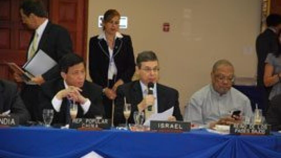 Israeli Deputy Foreign Minister Danny Ayalon Addresses OAS General Assembly