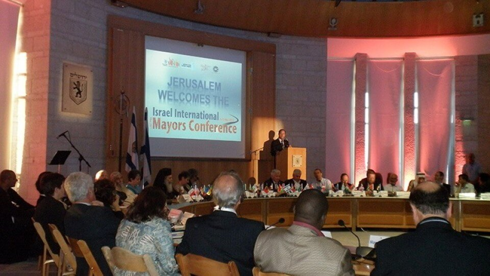 Hilberto Campos, Mayor of Corozal at the International Mayors Conference in Jerusalem 2012