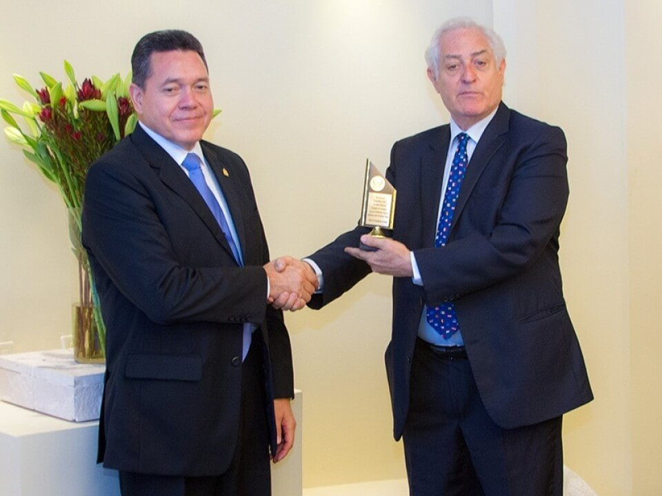 Departing Ambassador of Honduras Jose Isaias Barahona Receives Recognition Awards